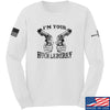 IV8888 Huckleberry Long Sleeve T-Shirt Long Sleeve Small / White by Ballistic Ink - Made in America USA