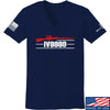 IV8888 Ladies IV8888 Logo V-Neck T-Shirts, V-Neck SMALL / Navy by Ballistic Ink - Made in America USA