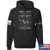 IV8888 M240 Machine Gun Specs Hoodie Hoodies Small / Black by Ballistic Ink - Made in America USA
