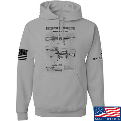 IV8888 M240 Machine Gun Specs Hoodie Hoodies Small / Light Grey by Ballistic Ink - Made in America USA