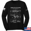 IV8888 M240 Machine Gun Specs Long Sleeve T-Shirt Long Sleeve Small / Black by Ballistic Ink - Made in America USA