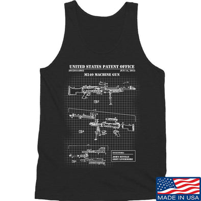 IV8888 M240 Machine Gun Specs Tank Tanks SMALL / Black by Ballistic Ink - Made in America USA