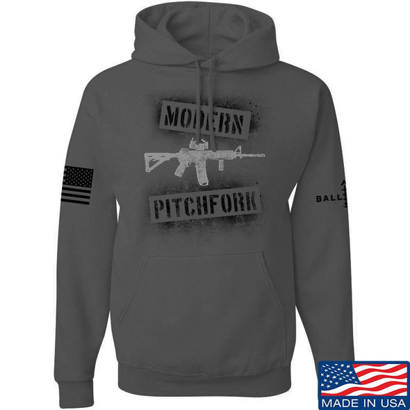 IV8888 Modern Pitchfork Hoodie Hoodies Small / Charcoal by Ballistic Ink - Made in America USA