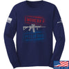 IV8888 Modern Pitchfork Long Sleeve T-Shirt Long Sleeve Small / Navy by Ballistic Ink - Made in America USA