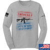 IV8888 Modern Pitchfork Long Sleeve T-Shirt Long Sleeve Small / Light Grey by Ballistic Ink - Made in America USA