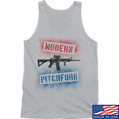 IV8888 Modern Pitchfork Tank Tanks SMALL / Light Grey by Ballistic Ink - Made in America USA
