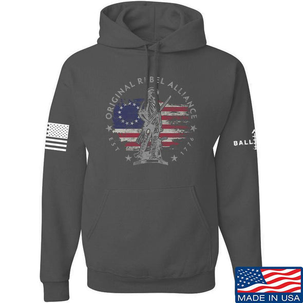 IV8888 Original Rebel Alliance Hoodie Hoodies Small / Charcoal by Ballistic Ink - Made in America USA