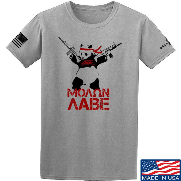 IV8888 Molon Labe Panda T-Shirt T-Shirts Small by Ballistic Ink - Made in America USA