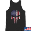IV8888 Skull Distressed Flag Tank Tanks SMALL / Black by Ballistic Ink - Made in America USA