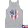 IV8888 Skull Distressed Flag Tank Tanks SMALL / Light Grey by Ballistic Ink - Made in America USA