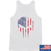 IV8888 Skull Distressed Flag Tank Tanks SMALL / White by Ballistic Ink - Made in America USA