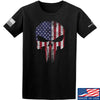 IV8888 Skull Distressed Flag T-Shirt T-Shirts Small / Black by Ballistic Ink - Made in America USA