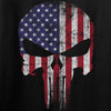 IV8888 Skull Distressed Flag Long Sleeve T-Shirt Long Sleeve [variant_title] by Ballistic Ink - Made in America USA