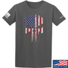 IV8888 Skull Distressed Flag T-Shirt T-Shirts Small / Charcoal by Ballistic Ink - Made in America USA