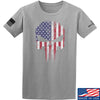 IV8888 Skull Distressed Flag T-Shirt T-Shirts Small / Light Grey by Ballistic Ink - Made in America USA