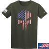 IV8888 Skull Distressed Flag T-Shirt T-Shirts Small / Military Green by Ballistic Ink - Made in America USA