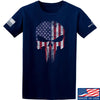 IV8888 Skull Distressed Flag T-Shirt T-Shirts Small / Navy by Ballistic Ink - Made in America USA