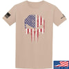 IV8888 Skull Distressed Flag T-Shirt T-Shirts Small / Sand by Ballistic Ink - Made in America USA