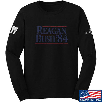 IV8888 Reagan Bush Long Sleeve T-Shirt Long Sleeve Small / Black by Ballistic Ink - Made in America USA
