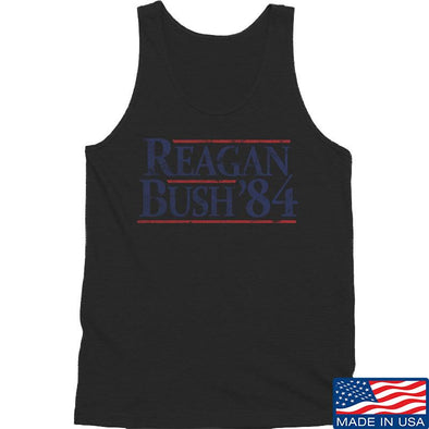 IV8888 Reagan Bush Tank Tanks SMALL / Black by Ballistic Ink - Made in America USA