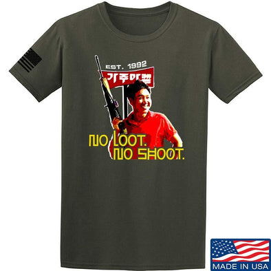 No Loot No Shoot Roof Korean T-Shirt