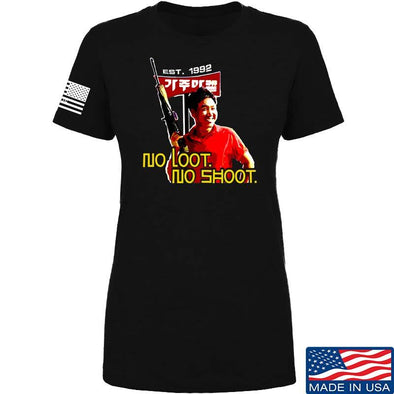 Ladies No Loot No Shoot Roof Korean T-Shirt