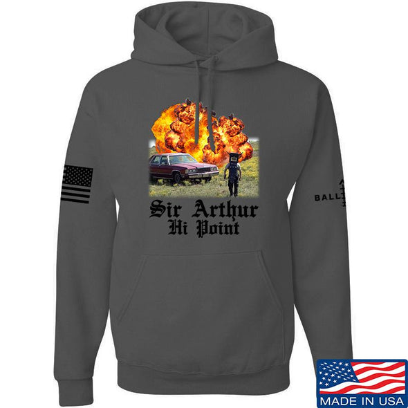 IV8888 Sir Arthur Hi Point Hoodie Hoodies Small / Charcoal by Ballistic Ink - Made in America USA