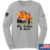 IV8888 Sir Arthur Hi Point Long Sleeve T-Shirt Long Sleeve Small / Light Grey by Ballistic Ink - Made in America USA