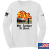 IV8888 Sir Arthur Hi Point Long Sleeve T-Shirt Long Sleeve Small / White by Ballistic Ink - Made in America USA