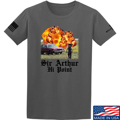 IV8888 Sir Arthur Hi Point T-Shirt T-Shirts Small / Charcoal by Ballistic Ink - Made in America USA