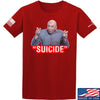 "IV8888 ""Suicide"" T-Shirt T-Shirts Small / Red by Ballistic Ink - Made in America USA"