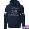 IV8888 Founding Fathers' City Tavern Signage Hoodie Hoodies Small / Navy by Ballistic Ink - Made in America USA
