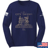 IV8888 Founding Fathers' City Tavern Signage Long Sleeve T-Shirt Long Sleeve Small / Navy by Ballistic Ink - Made in America USA