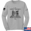 IV8888 Founding Fathers' City Tavern Signage Long Sleeve T-Shirt Long Sleeve Small / Light Grey by Ballistic Ink - Made in America USA
