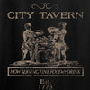 IV8888 Ladies Founding Fathers' City Tavern Signage V-Neck T-Shirts, V-Neck [variant_title] by Ballistic Ink - Made in America USA
