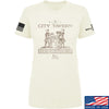 IV8888 Ladies Founding Fathers' City Tavern Signage T-Shirt T-Shirts SMALL / Cream by Ballistic Ink - Made in America USA