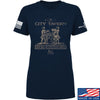 IV8888 Ladies Founding Fathers' City Tavern Signage T-Shirt T-Shirts SMALL / Navy by Ballistic Ink - Made in America USA
