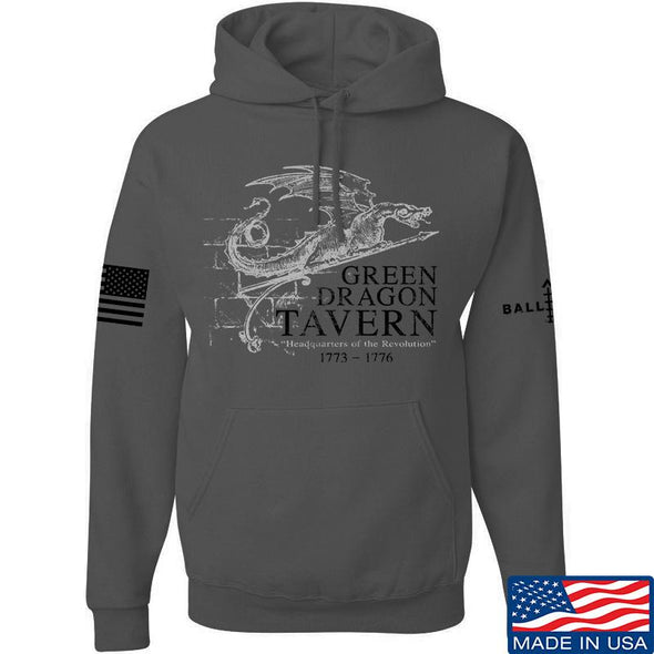 IV8888 Green Dragon Tavern Signage Hoodie Hoodies Small / Charcoal by Ballistic Ink - Made in America USA