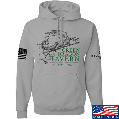 IV8888 Green Dragon Tavern Signage Hoodie Hoodies Small / Light Grey by Ballistic Ink - Made in America USA