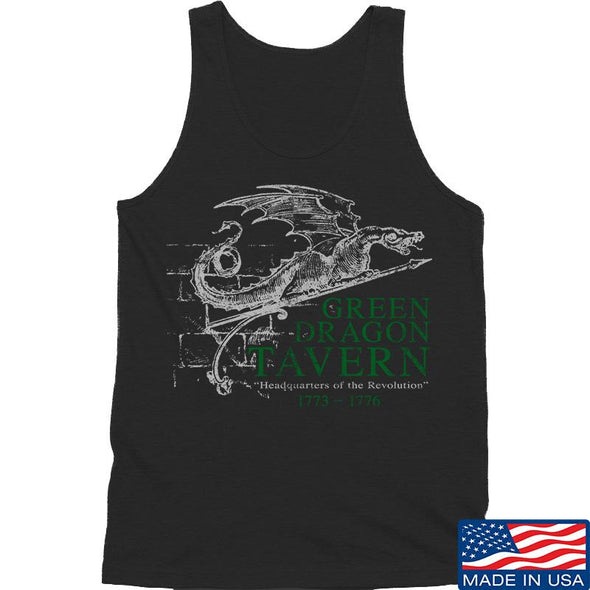IV8888 Green Dragon Tavern Signage Tank Tanks SMALL / Black by Ballistic Ink - Made in America USA
