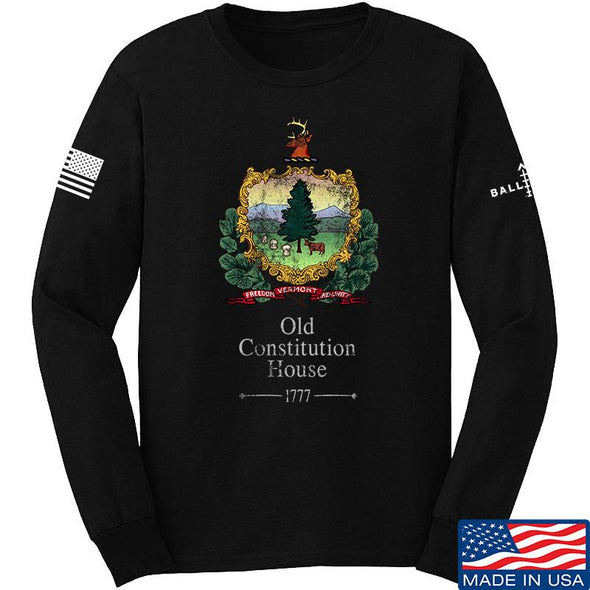 IV8888 Old Constitution House Tavern Signage Long Sleeve T-Shirt Long Sleeve Small / Black by Ballistic Ink - Made in America USA