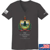 IV8888 Ladies Old Constitution House Tavern Signage V-Neck T-Shirts, V-Neck SMALL / Charcoal by Ballistic Ink - Made in America USA