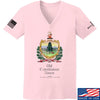 IV8888 Ladies Old Constitution House Tavern Signage V-Neck T-Shirts, V-Neck SMALL / Light Pink by Ballistic Ink - Made in America USA