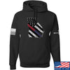 IV8888 Georgia Red and Blue Line Hoodie Hoodies Small / Black by Ballistic Ink - Made in America USA