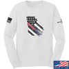 IV8888 Georgia Red and Blue Line Long Sleeve T-Shirt Long Sleeve Small / White by Ballistic Ink - Made in America USA