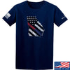 IV8888 Georgia Red and Blue Line T-Shirt T-Shirts Small / Navy by Ballistic Ink - Made in America USA