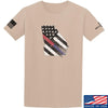 IV8888 Georgia Red and Blue Line T-Shirt T-Shirts Small / Sand by Ballistic Ink - Made in America USA