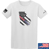 IV8888 Georgia Red and Blue Line T-Shirt T-Shirts Small / White by Ballistic Ink - Made in America USA