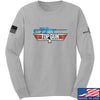 IV8888 Top Gun Barrett M107A1 Long Sleeve T-Shirt Long Sleeve Small / Light Grey by Ballistic Ink - Made in America USA