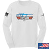 IV8888 Top Gun Barrett M107A1 Long Sleeve T-Shirt Long Sleeve Small / White by Ballistic Ink - Made in America USA